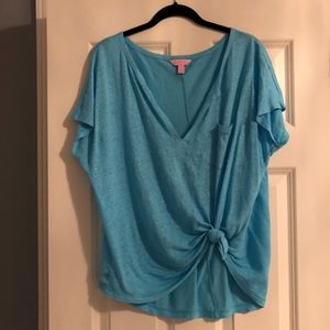 Lilly Pulitzer Duval Notch Neckline Top